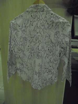 Блузка (рубашка) стрейч, на молнии, р.48-50