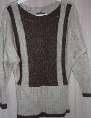 Пуловер молочно-кофейный, Турция, р-44(46)