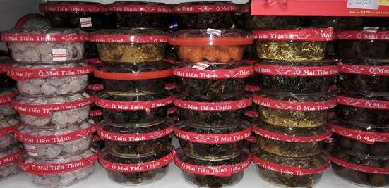 Вяленые и сушёные экзотические фрукты, из Вьетнама.