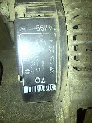 VW Golf-III 1.9D генератор 028903025H в Санкт-Петербурге Фото 2