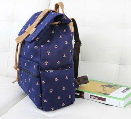 Рюкзак синий для элегантной девушки