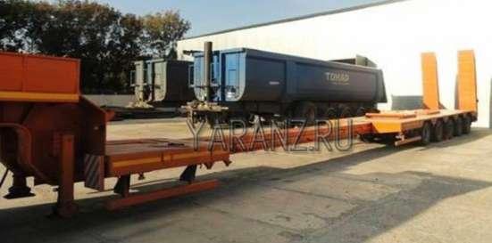 26. Трал раздвижной низкорамный 60 тонн 10-17 метров с двумя подъемными осями