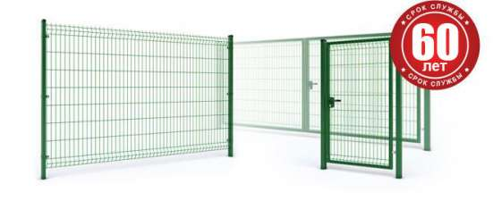 Откатные и распашные ворота из сварной 3Д сетки