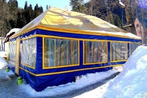 Торговые палатки, павильоны каркасно - тентовые