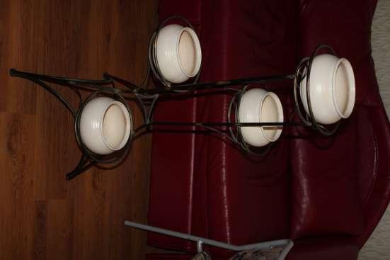 Кованная подставка с горшками в Химках Фото 1