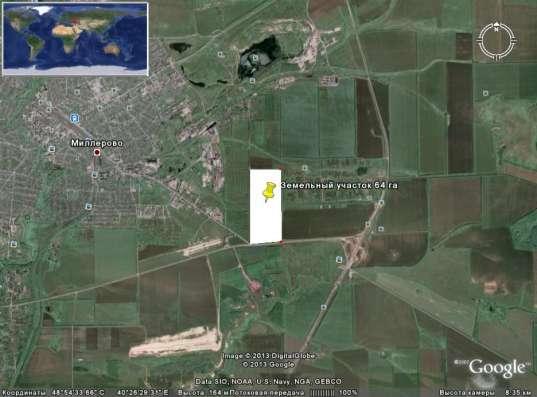Земельный участок рядом с М-4 и въезд в город Миллерово