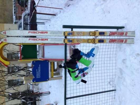 Горнолыжные ботинки 44р., горные лыжи и крепления