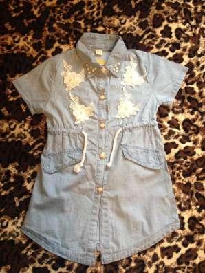 Джинсовое платье рост 110-122