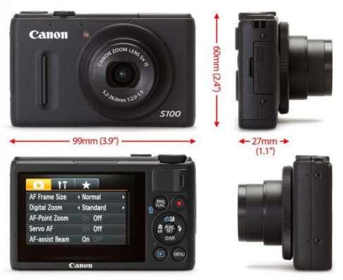 премиум фотоаппарат Canon PowerShot S100 в идеале.