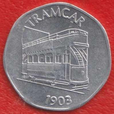 Англия транспортный жетон 20 токен Трамвай 1903