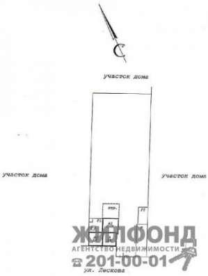 дом, Новосибирск, Лескова, 37 кв.м. Фото 1