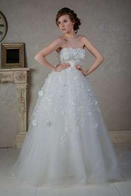 Пышное свадебное платье со шлейфом