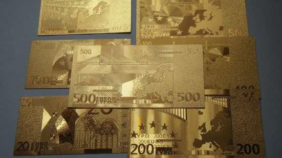 Коллекция золотых банкнот 24 к 20 штук + сертификат