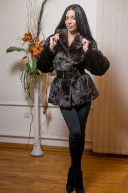 Норковая шуба-полушубок, scanblack, 44-46