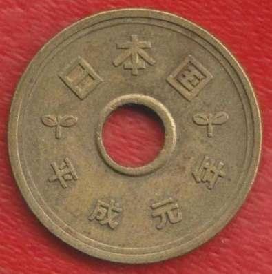 Япония 5 иен 1989 г.