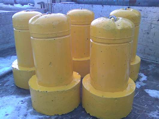 Столбик парковочный бетонный с креплением и покраской в Тюмени Фото 3