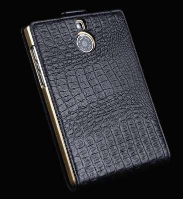 Натуральный кожаный чехол флип для Blackberry Passport