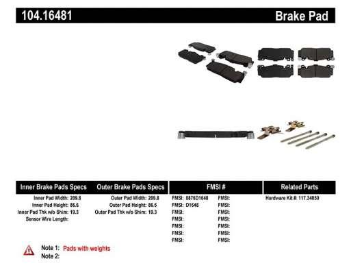 104.16480 Тормозные колодки BMW M5 (F10) перед