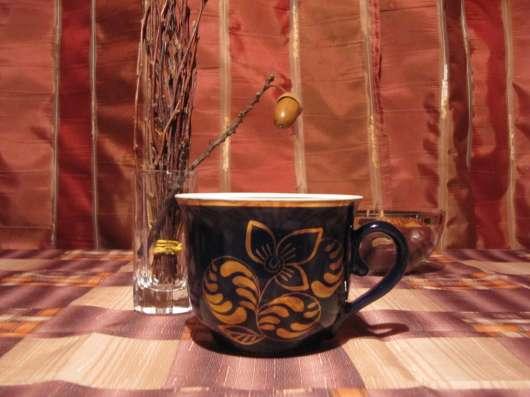 Кобальтовый чайный сервиз, Гжель (СССР) в Москве Фото 2