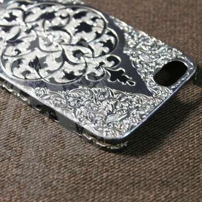 Серебряный корпус для IPhone ручной работы в Москве Фото 2