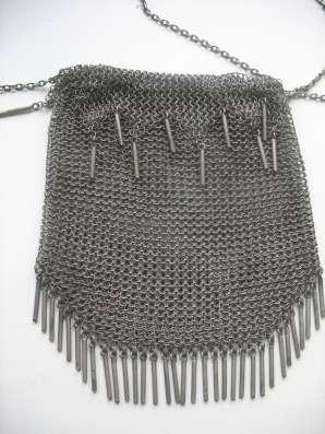 Старинная женская сумка. Серебро 84.Кольчуга