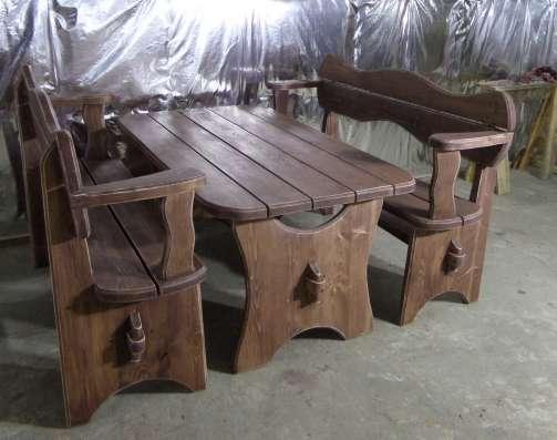 Стол с лавками для сада, или бани