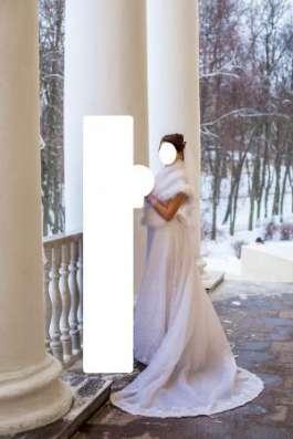 Кружевное свадебное платье + накидка в Москве Фото 1