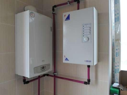 Монтаж отопления, водоснабжения, теплый пол