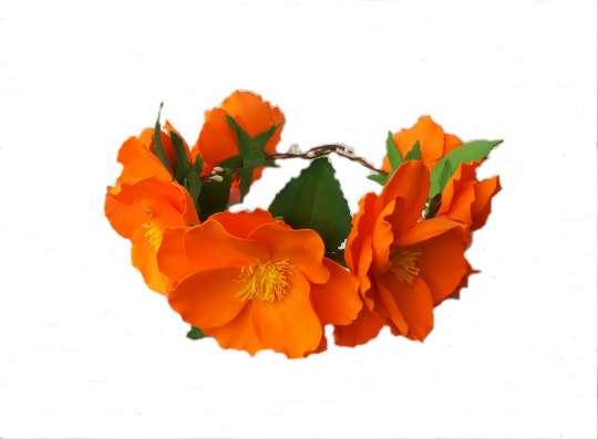 Венок на голову с цветами из фоамирана в Лыткарино Фото 1