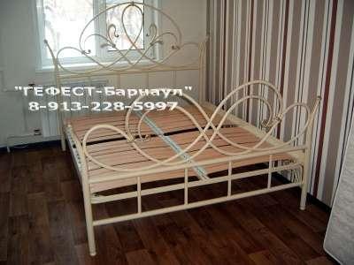 Кровать металлическая двухспальная Гефест-Барнаул 04
