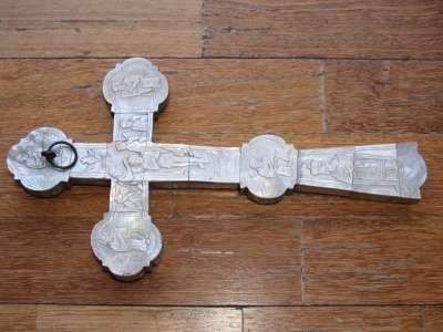 Антикварный напрестольный крест 18 века.