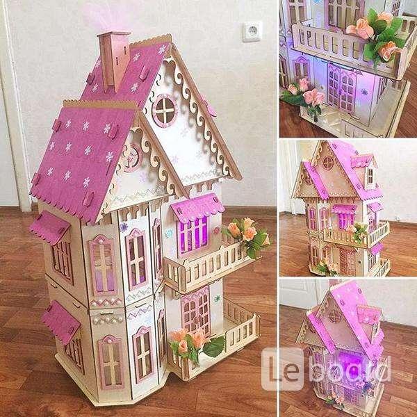 Покраска кукольного домика